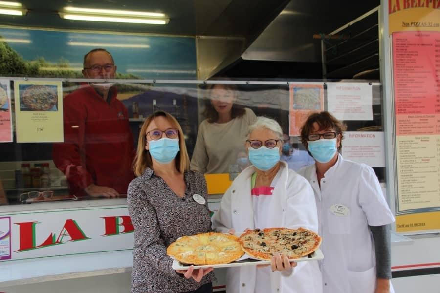Camion pizza à l'Ehpad