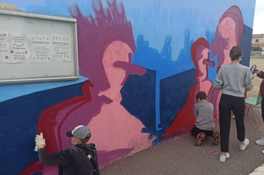 Graff en cours de réalisation