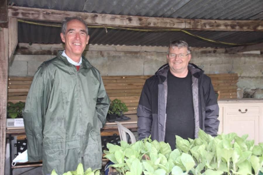 Jardiniers vendant des plants