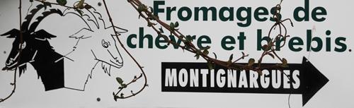Pancarte fromage de chèvre