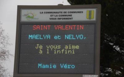 Leins Gardonnenque | Des Mots doux affichés pour la Saint Valentin