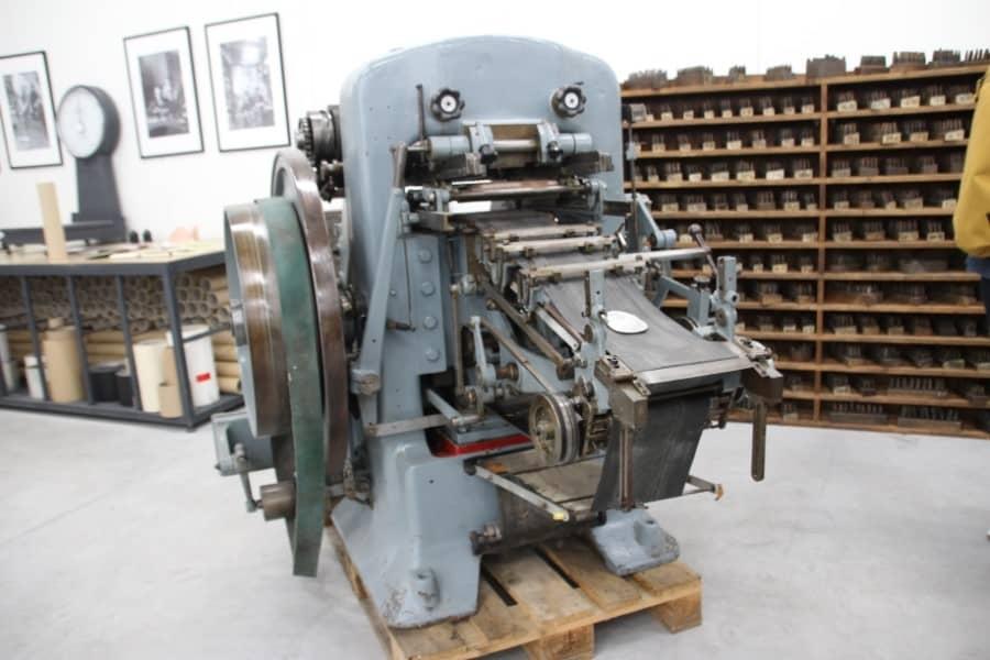 Ancienne machine d'imprimerie