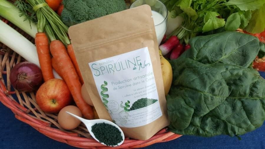 Spiruline et légumes