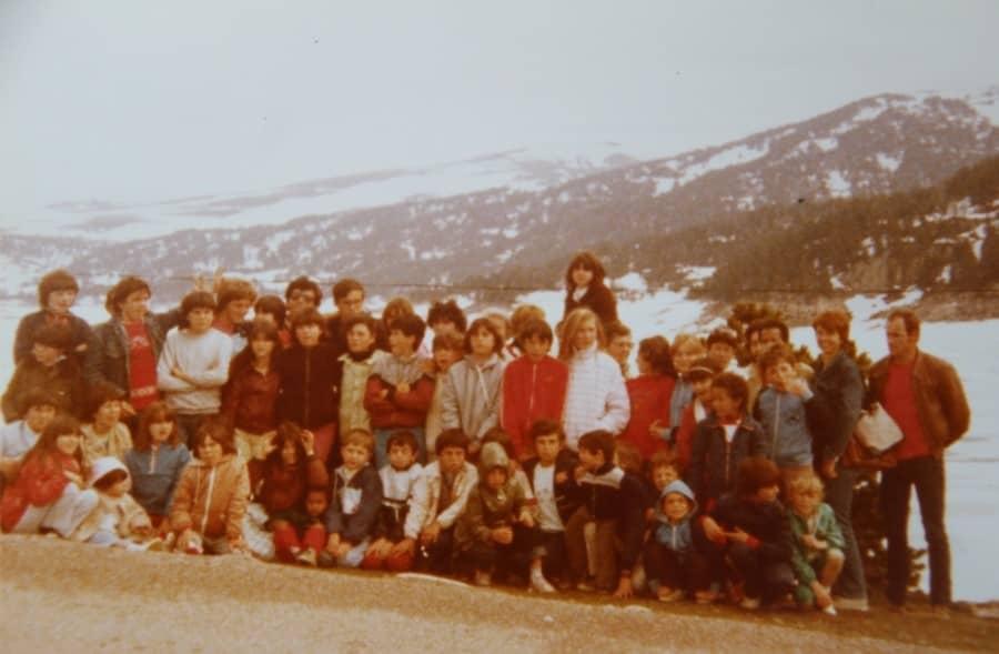 Sortie à la neige dans les années 80